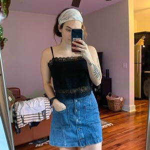 Pull and Bear Lace Crop Top